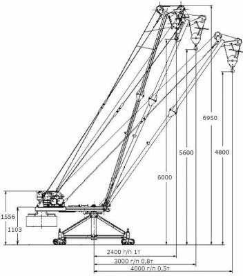 Кран Мастер-3 1000 кг чертеж