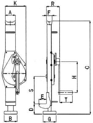 Реечный домкрат 16 тн