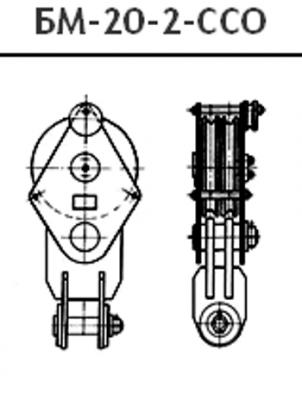 Отводной блок БМ-20 монтажный